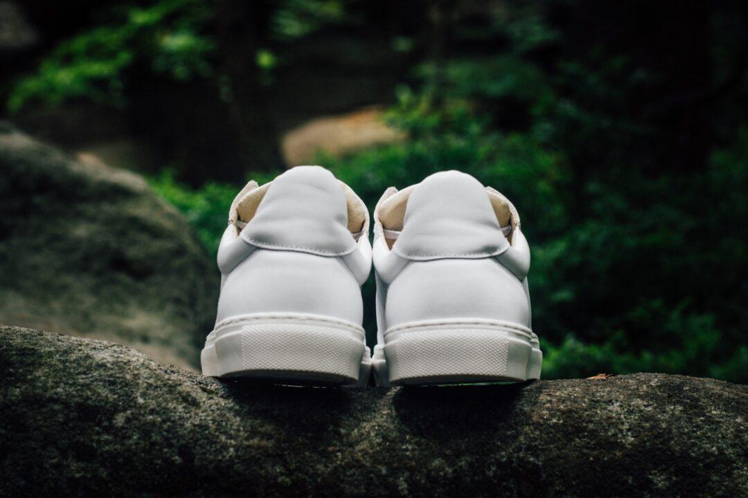 Męskie Skórzane Sneakersy SAVVY SOLE FLAX White