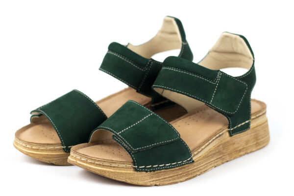 Skórzane sandały damskie SAVVY SOLE ISLA GREEN