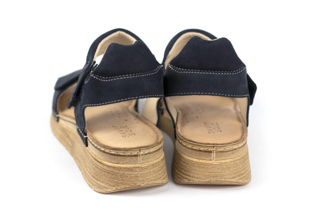 Skórzane sandały damskie SAVVY SOLE ISLA NAVY