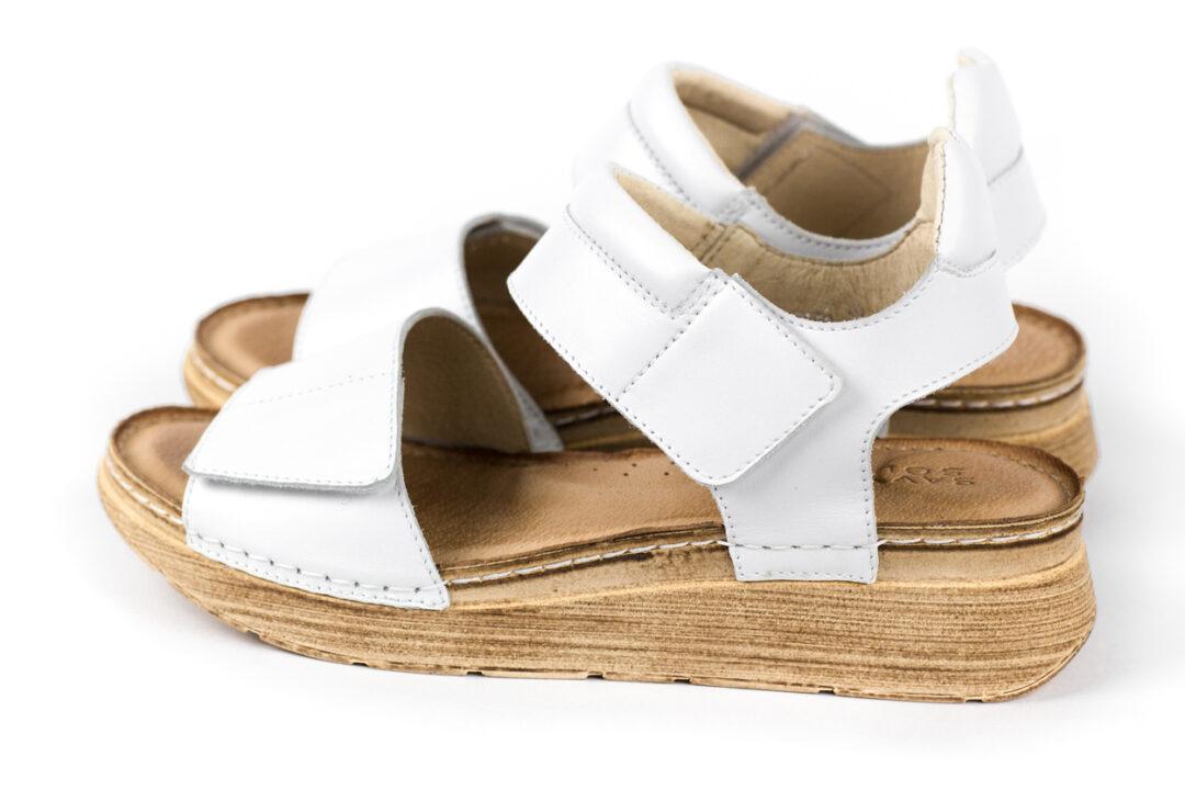 Skórzane sandały damskie SAVVY SOLE ISLA WHITE
