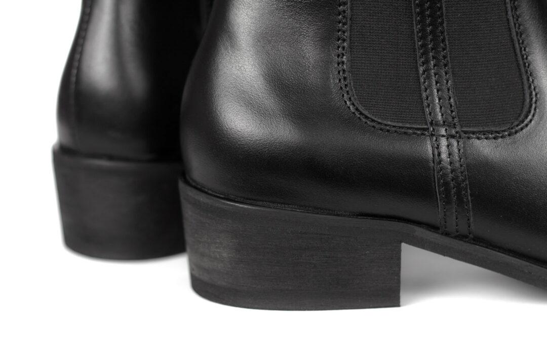 Skórzane damskie sztyblety SAVVY SOLE ESTER BLACK